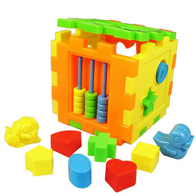 Baby Educational Toy Bricks Matching Blocks Intelligence Sorting Box DSUK