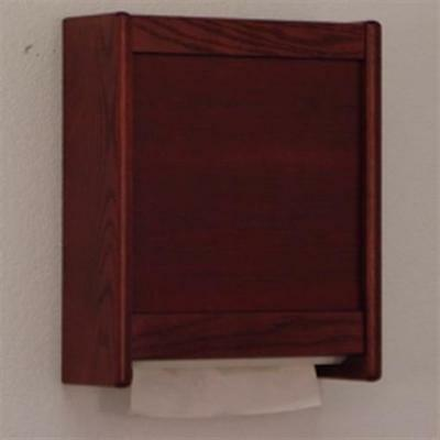 Wooden Mallet WCT1MH C-Fold and Multi-Fold Towel Dispenser in Mahogany