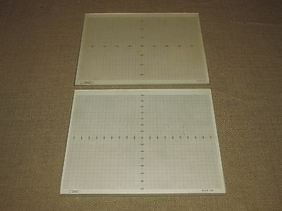 Vintage Optical Gaging Products Glass Plate Projection Chart Gages 10X and 50X