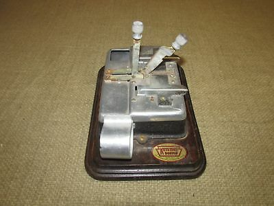 Vintage Keystone Boston Security Film Splicer with Wooden Base