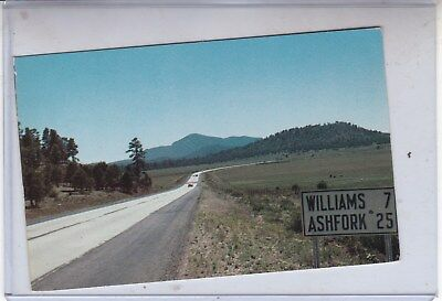 Route 66 Postcard Rt66 Bill Williams Moutain In the Distance Az