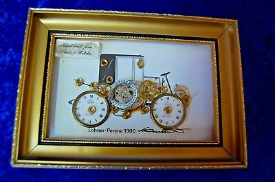 Collage Uhr - Lohner-Porche 1900 - Hand made from Clocks & Watches - Broadbent