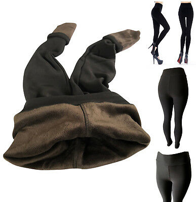 Women Winter Fleece Fur Lined Extra Warm Thick Thermal Leggings Active Pants