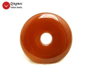 Natural Agate Pendant for Women with 30mm Donuts Shape Red Agate Pendant pen99