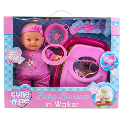 Cutie Pie Baby Blossom Doll in Walker with Accessories Playset Talks & Walks