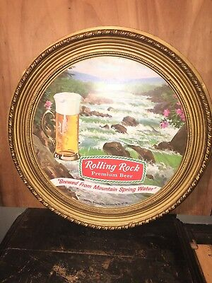 Vintage Rolling Rock Beer Sign Latrobe Brewing Advertizing 13 Inch.