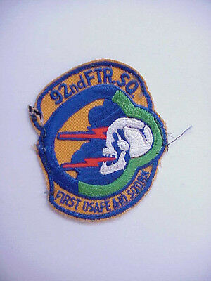 "UNIFORM Worn 92nd Fighter Squadron Patch ""First in USAFE A-10 Squadron"""