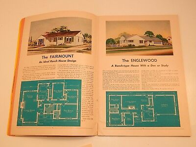 Vintage Liberty Ready Cut Homes Catalog 1940s House Plans Layout w Price List