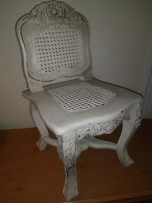 Antique Mahogany and Wicker Child's Chair From Late 1800s to Early 1900s.