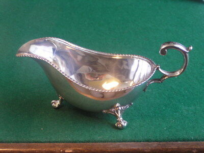 Antique Silver Gravy Boat with Ball & Claw Feet Sheffield 1925