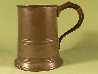 Antique Pint Pewter Tankard E51 G Crown Stamp Mark