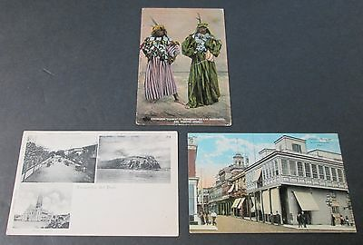 3 RPPCs All Unused PERU Native Women, Landmarks & Constitution Street