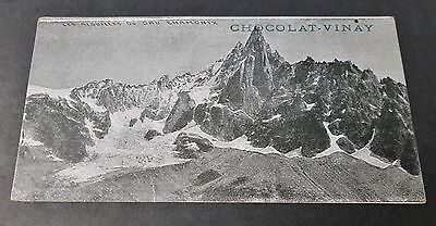 CHOCOLAT VINAY French Alps Unused Smaller than Normal Postcard