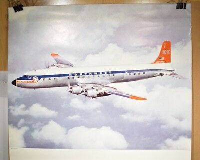 1950s Northwest Airlines Proof Poster with DC-7C