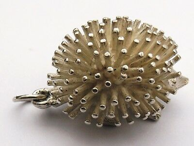 Vintage Sterling Silver Charm HEDGEHOG  large and heavy charm