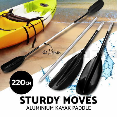 Premium 220cm Adjustable Boat Oar Kayak Canoe Paddle Detachable Split Shaft BK