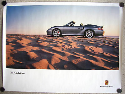 Porsche Official 911 996 Turbo Cabriolet Showroom Poster 2004
