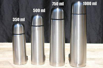 Stainless Steel Vacuum Thermos - Portable Insulated Travel Flask Bottle