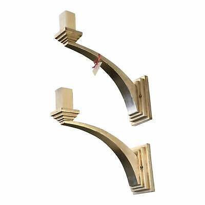 Superb Art Deco Style Designer White Gold Wall Sconces by Panache