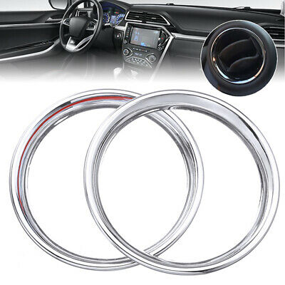2x Chrome Air Vent Insert Ring Cover Trim For Nissan Versa Latio 2012-2017 New