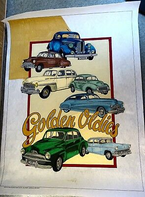 Vintage Hobbytex Pictures Filled Ready To Frame 50 X 70 ? Cm Edge To Edge Holden
