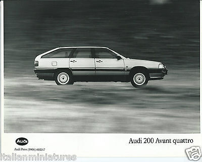 Audi 200 Avant Quattro 1989 Original Press Photograph Mint Condition