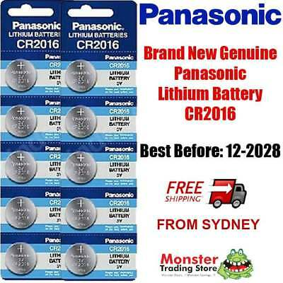 10pc CR2016 3V LITHIUM BUTTON COIN BATTERY BRAND NEW GENUINE EXPIRES 12/2028