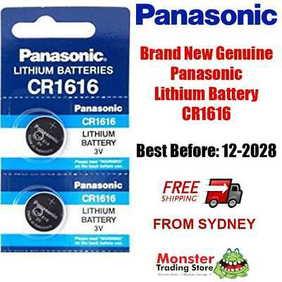 2pcs CR1616 3V LITHIUM BUTTON COIN BATTERY BRAND NEW GENUINE EXPIRES: 12/2027