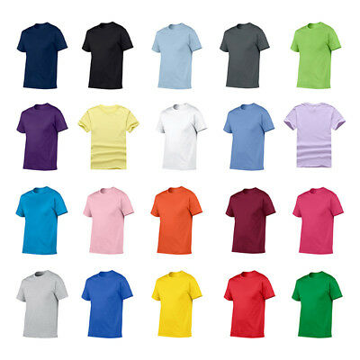 Plain 100% Cotton Blank T-shirt Mens Womens Various Colour sizes S - 2XL