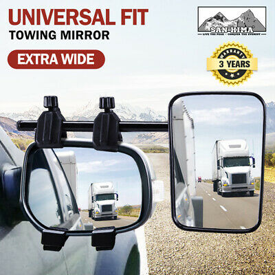 Towing Mirrors Single Universal Multi Fit Strap On Towing Caravan 4X4 Trailer