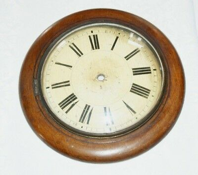 Antique Mahogany & Painted Wall Clock Face, Spares/Repair