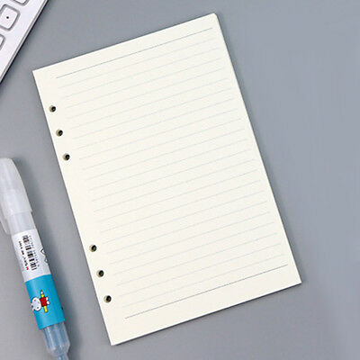 45pcs A6/A5 Loose-Leaf Refill Filler Paper 6 Holes Binder Paper Page Replacement