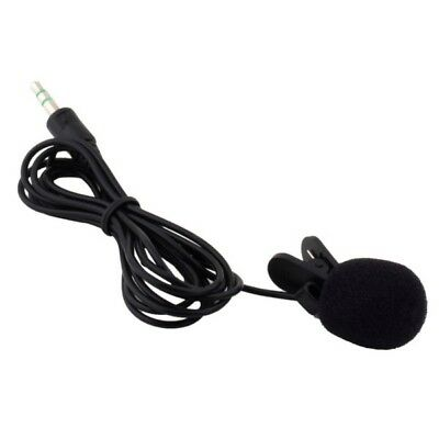 Black Mini 3.5mm Wired Clip On Lapel Mic Microphone For PC Notebook Laptop
