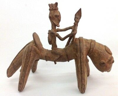 old finest Dogon Rider Horse Bronze Mali 8 inch x 6 inch old Germany collection