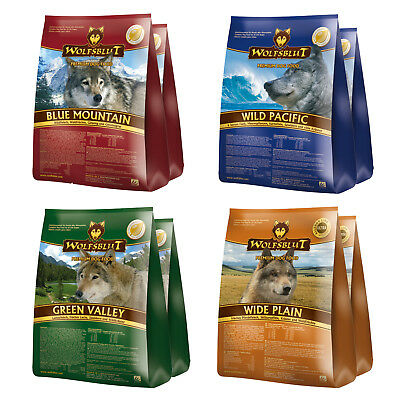 Wolfsblut 2 x 15 kg Blue Mountain Wide Plain Pacific Green Valley Hundefutter