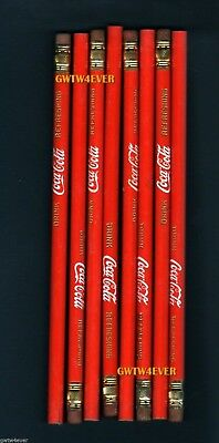 COCA COLA Vintage PENCIL SET of 8 NEW Never Used