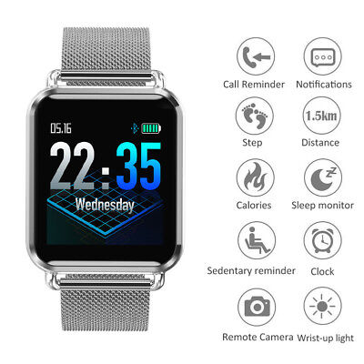 Waterproof Smart Watch Sports Blood Pressure/Heart Rate Monitor for Android IOS
