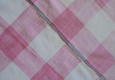 NEW AUTUMN STOCK,  2 PIECES GENTLY FADED MID 19th CENTURY FRENCH VICHY CHECK 260