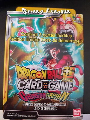 "Dragon Ball Super Card Game ! Deck de Démarrage ""The Grimson Sayan""  VF/SD05"