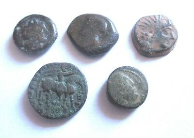 Greek (450 Bc-100 Ad) A Lot Of 5 X Ae-greek Coins From Different Mints Low Price