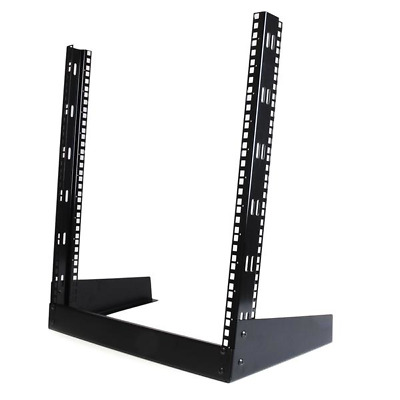 StarTech.com RK12OD 12U 19in Desktop Open Frame 2 Post Rack