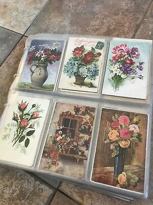 Lovely Vintage Postcard Album Full With 330 Early  Cards Mixed