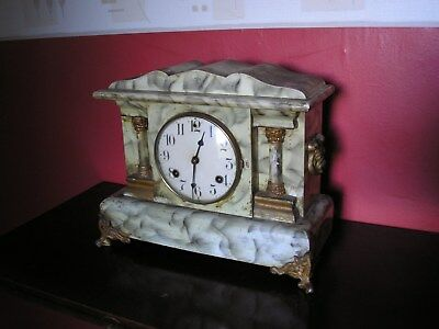 Antique Waterbury Striking Mantle / Bracket Clock