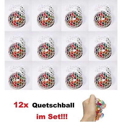 (1.38€/1st) 12er Set Quetschball Anti Stressball Knautschball Stress Knet Ball