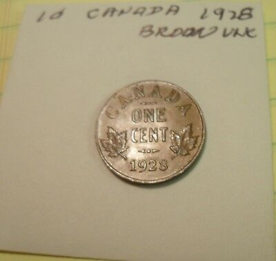 2 Canada Small Cents 1928 and 1929 Both Uncirculated