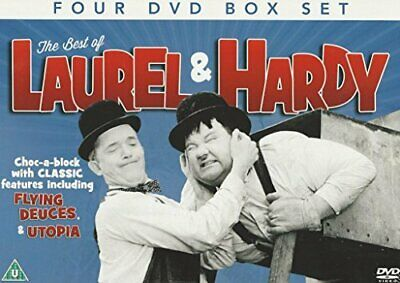 THE BEST OF LAUREL & HARDY 4 DVD BOX SET -  CD SKVG The Fast Free Shipping