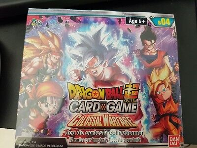 "Dragon Ball Super Card Game ! Boite 24 Boosters ""Colossal Warfare"" VF !"