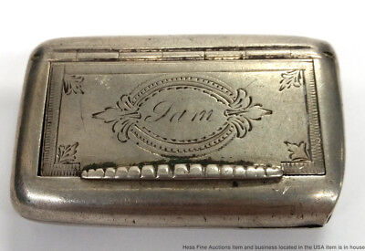 Rare Antique Swedish Sterling Silver Hand Chased Engraved Snuff Box G6 GAB