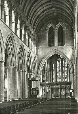 B/w R/p - Nave & Choir, Dunblane Cathedral, Stirlingshire.