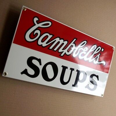 CAMPBELL'S SOUPS New Jersey USA 1993 Emailschild MAKELLOS Andy Warhol => POP ART